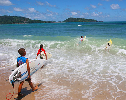 Study in Phuket - Surfing Thailand - Education Abroad Asia