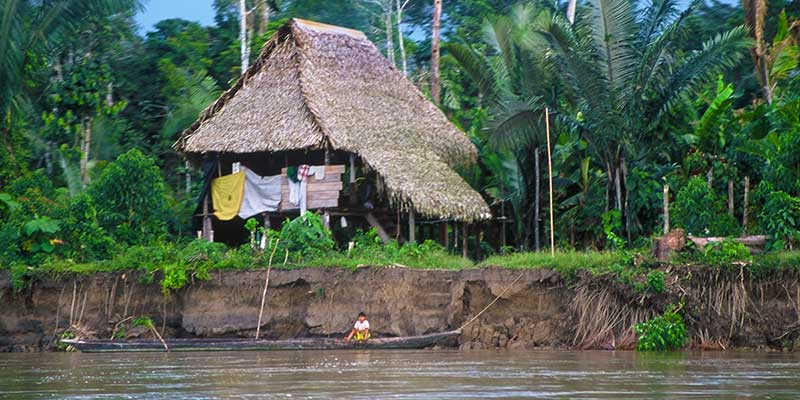 Amazon River house - Rio Napo - Study Abroad Journal 2003