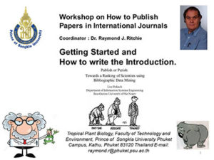 Study Abroad Journal Publishing Workshop
