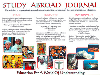 About Study Abroad Journal brochure