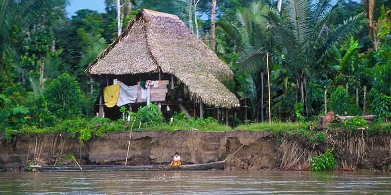 Amazon River house - Rio Napo | Study Abroad Journal 2003 | Dr Steven A Martin